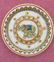 Buy Marble Decorative Plate diwali-gift online