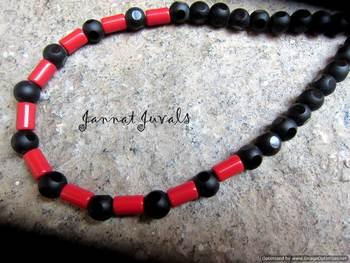 Black Red Tube Neckpiece