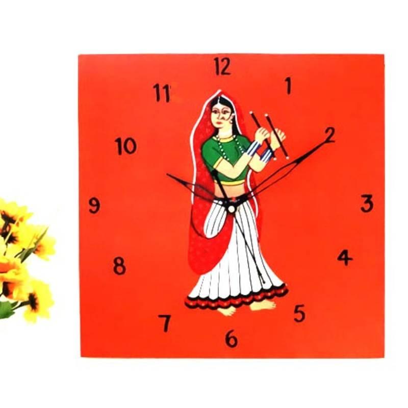 Buy Wooden Wall Clock Dandiya Online