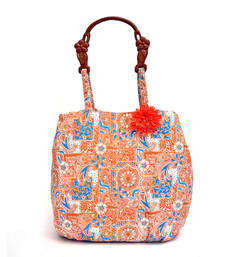 Buy Attractive Summer beach bag with wood look handel. jhola-bag online