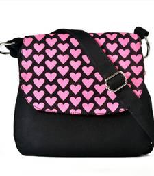 Buy Purple top black canvas sling sling-bag online