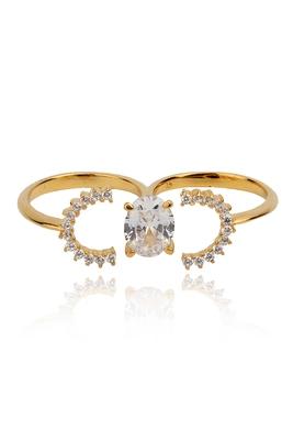 Diamond dazzle double ring