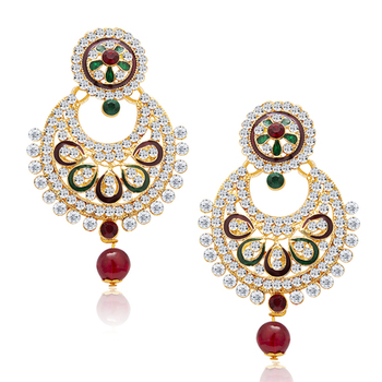 Amazing Gold Plated AD Earring For Women