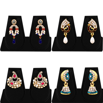 Marquise Gold Plated AD Combo Earring For Women