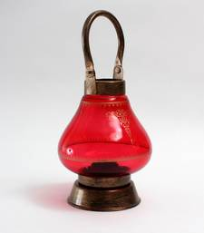 Buy Antique gold  and  Red Steel and glass table-lamps table-lamp online