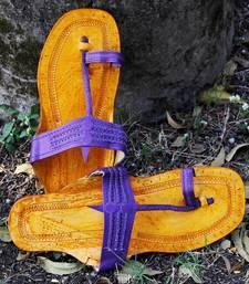 Buy Purpura Kolhapuri Slip On footwear online