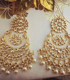 Buy White Pearl kundan danglers drops black-friday-deal-sale online