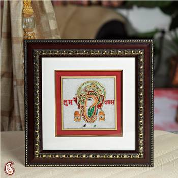 Gold Painted Lord Ganesh Hanging