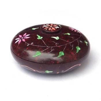 Carved Marble Box - Red