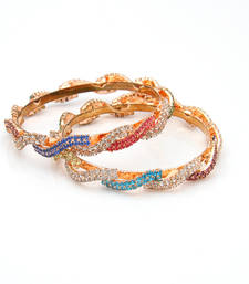 Buy Multi colour stone kada bangles-and-bracelet online