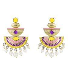 Buy Chandbali Multi-Colour Pearl  Bollywood Fashion Earring For Women danglers-drop online