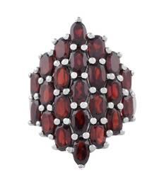 Buy Sterling Silver Garnet Gemstone Cocktail Ring gemstone-ring online