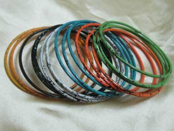 Colorful stylish bangles set