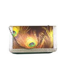 Buy Digital Mor Pankh Clutch (Green) clutch online