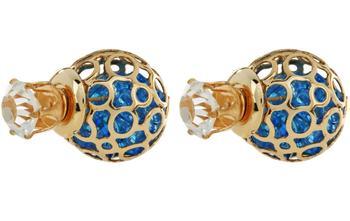 Gold Charm Stud Earring