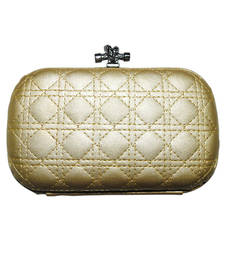 Buy Gold cloth clutch clutch online