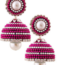Buy Multicolor teracotta and dokra jhumkas terracotta-jewelry online
