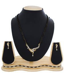Buy Lovely Gold Plated American Diamond Studded Attractive Mangalsutra mangalsutra online