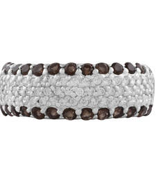 Buy Sterling Silver Two Color Gemstone studded Ring gemstone-ring online