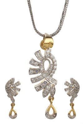 PEACE Collection Silver Drop Beget Locket Set For Women
