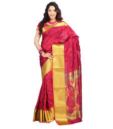 Buy Red woven Art-Silk saree With Blouse kanchipuram-silk-saree online