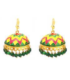Buy Designer Multicolor Tokri Jhumki jhumka online