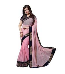 Buy Pink embroidered georgette saree with blouse ayesha-takia-saree online