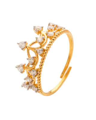Gold stone rings