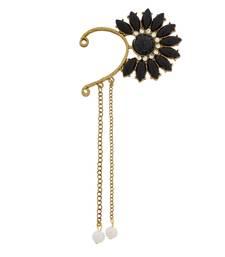 Buy Designer black beads studded ear cuff ear-cuff online