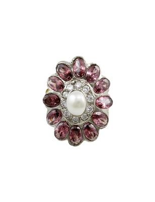Purple Antique Victorian Finger Ring Jewellery for Women - Orniza