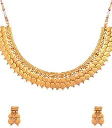 Buy Twin Lakshmi Coin Ginni Gold Plated Temple Antique Necklace Earring Set for Women south-indian-jewellery online