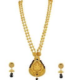 Buy Black Temple Pendant Set Jewellery for Women - Orniza Pendant online