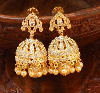 Beautiful CZ high gold plated jumkas