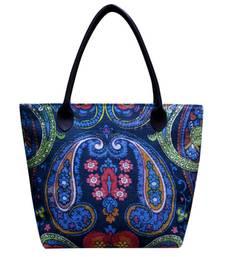 Buy Blue Jute handbags handbag online