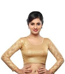 Buy Copper cotton stitched blouse blouse online