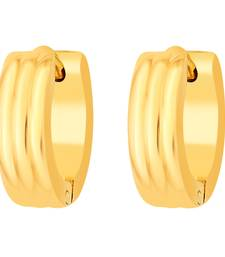 Buy Earrings for Men Boys Studs Gold Striped Piercing Bali men-stud online