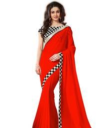 Buy chiffon saree by fabkaz (Red) chiffon-saree online