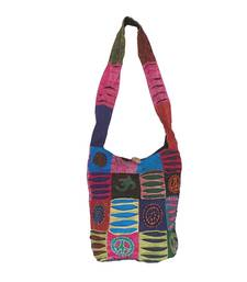 Buy Ripped Stonewash Cloth Slingbag (Multicolor) jhola-bag online
