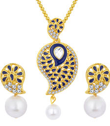 Buy Glorious gold plated ad pendant set for women Pendant online