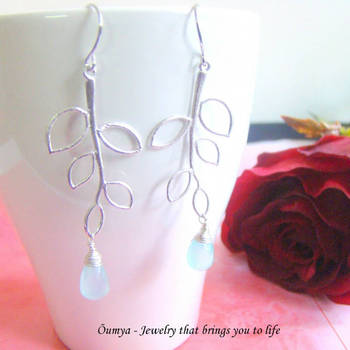 Aqua Branch earrings