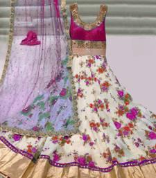 Buy Pink Silk embroidered semi stitiched salwar with dupatta party-wear-salwar-kameez online