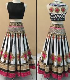 Buy Multicolour embroidered art_silk unstitched lehenga choli lehenga-choli online