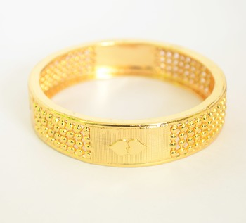 Gold plated kada bangle