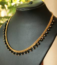 Buy Black beaded necklace Necklace online