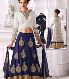Buy Blue embroidered art silk unstitched lehenga choli (premium quality ) lehenga-choli online