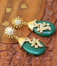 Buy Designer Peacock Earrings danglers-drop online