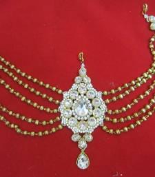 Buy Hair accessory Gold crystal Back tika tikka matha patti hair-accessory online