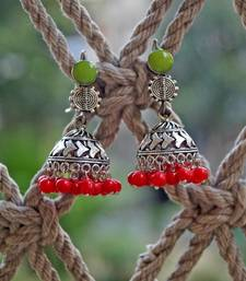 Buy red stylish jhumka fashion-deal online