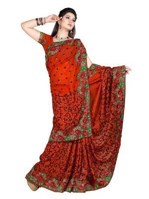 Zoom Fabric Georgette Saree 2425