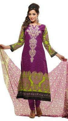Triveni Adorable Purple Indian Ethnic Salwar Kameez TSXKRSK1206